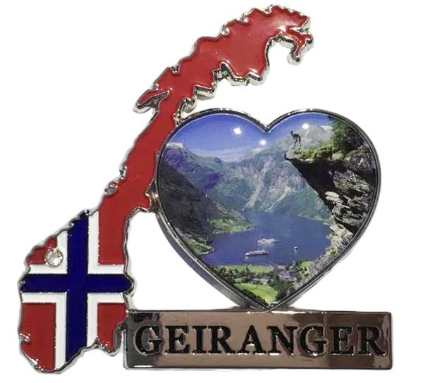 Bilde av Magnet, norgeskart Geiranger