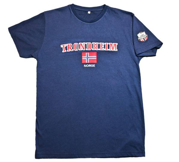 Bilde av T-skjorte, 'Trondheim', blå