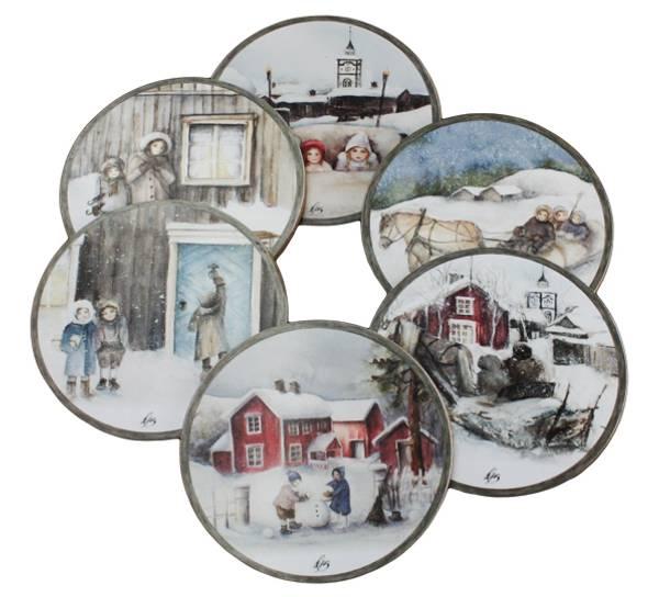 Bilde av Vinterbarn glassbrikker