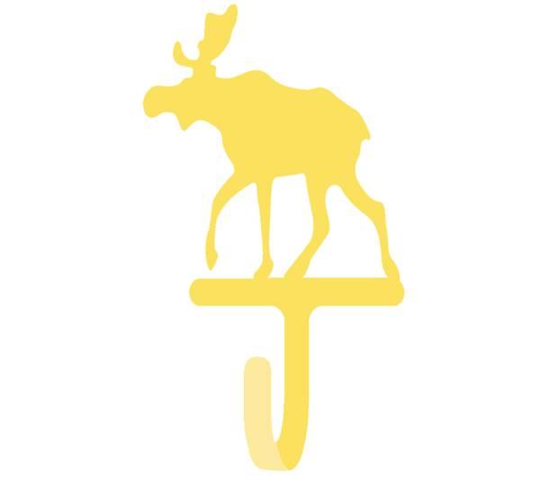Bilde av Knagg med elg, gul