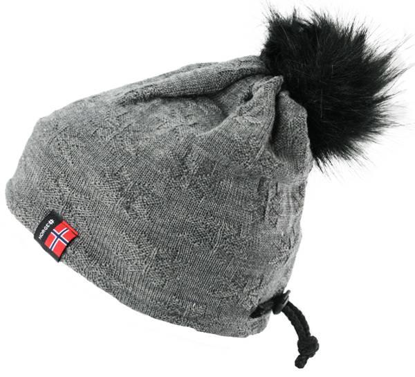 Bilde av Strikkelue, vrangrosa grå