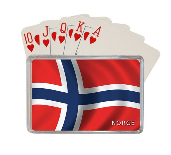 Bilde av Kortstokk, Norsk flagg
