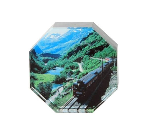 Bilde av Glassblokk, Flåmsbanen, åtte kantet