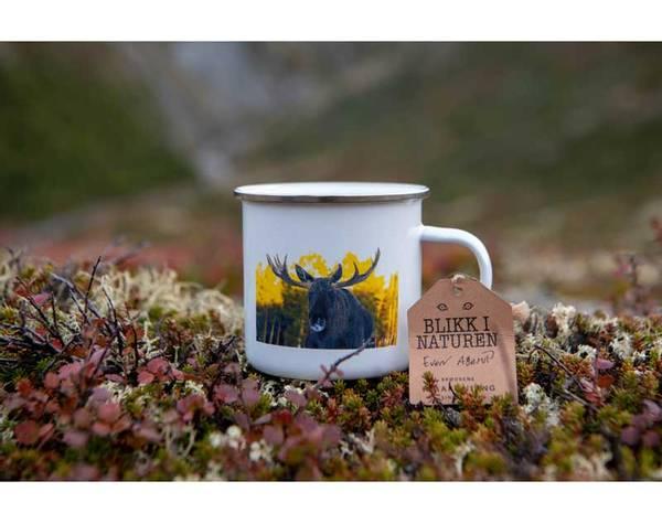 Bilde av Emaljekrus, elg, `Blikk i naturen`