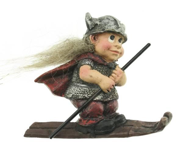 Bilde av Magnet, vikingbarn på ski
