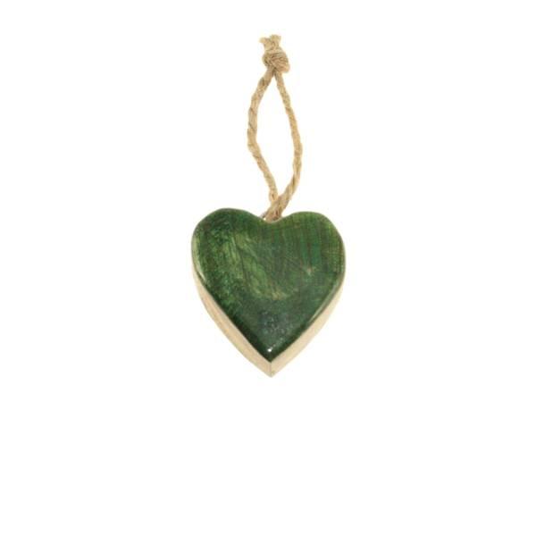 Bilde av Grønt blankt hjerte av tre, for oppheng, F-design