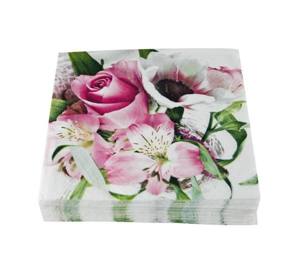 Bilde av Kaffeserviett, blomsteroppsats