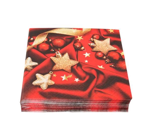Bilde av Kaffeserviett, pynt julestjerner