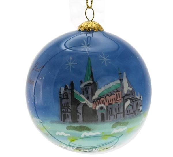 Bilde av Julekule håndmalt Trondheim
