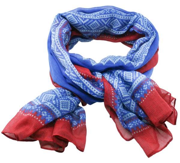 Bilde av Mariusskjerf blått, rødt og hvitt.