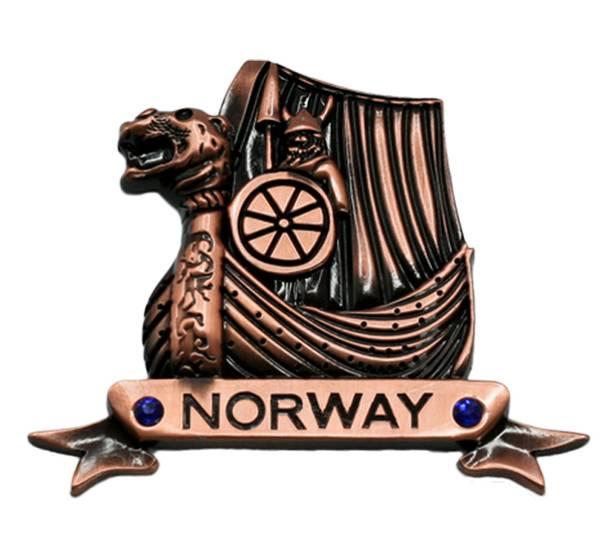 Bilde av Magnet, Vikingskip, kobber