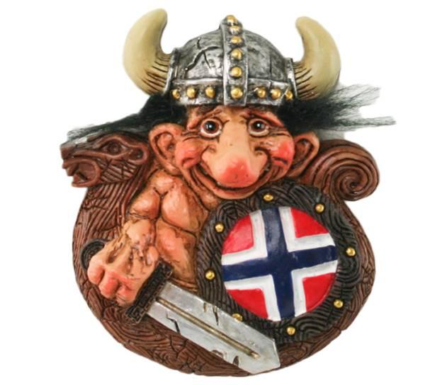 Bilde av Magnet, Troll i vikingskip