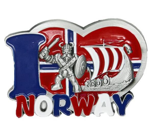 Bilde av Magnet, I love Norway med viking