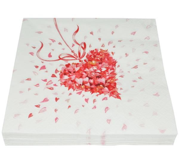 Bilde av Servietter, kjærlighet
