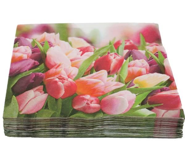 Bilde av Servietter tulipaner