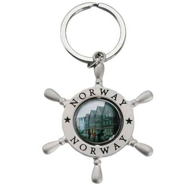 Bilde av Nøkkelring, båtratt, sølv ,Bergen og vikingskip