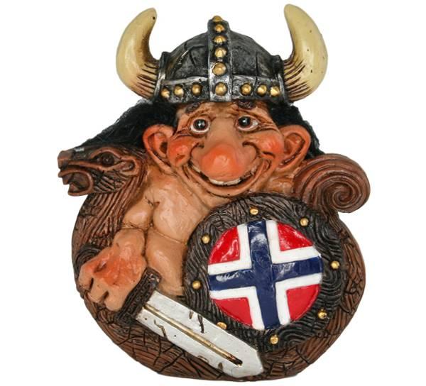 Bilde av Figur, Troll i vikingskip